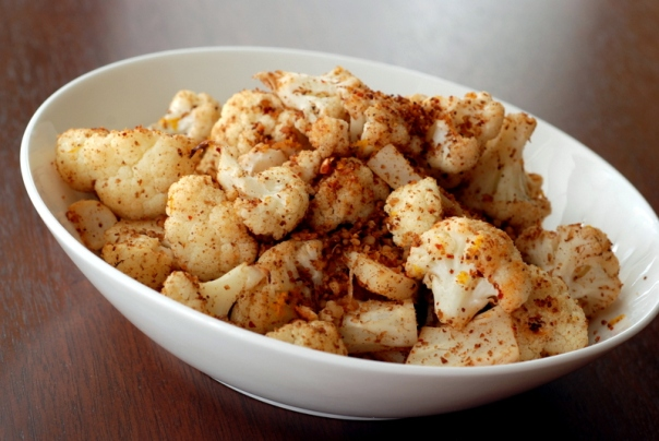 Indian-Inspired Roasted Cauliflower with Almonds and Lemon