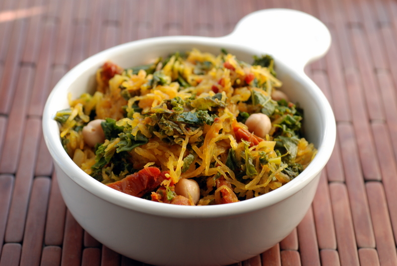 Ginger-Lime Kale With Squash & Chickpeas Recipes — Dishmaps