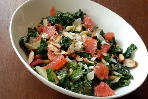 Kale Fennel Salad with Grapefruit Vinaigrette
