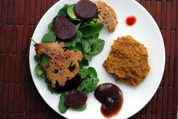 Pumpkin Fenugreek Curry repurposed into Curry Burgers