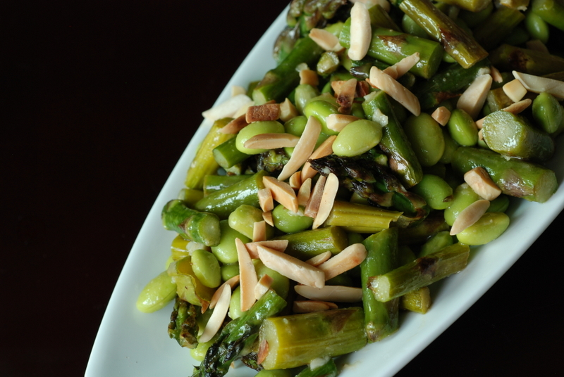 Asparagus and Edamame Salad with Lime-Miso Dressing | the taste space