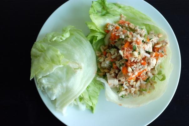 Laotian Tofu Larb Lettuce Wraps