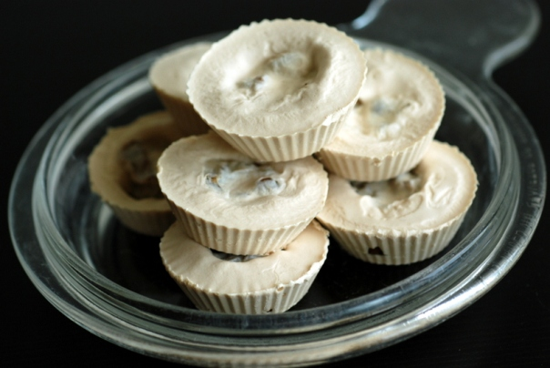 Tahini Cups with a Sweet Coffee-Infused Filling