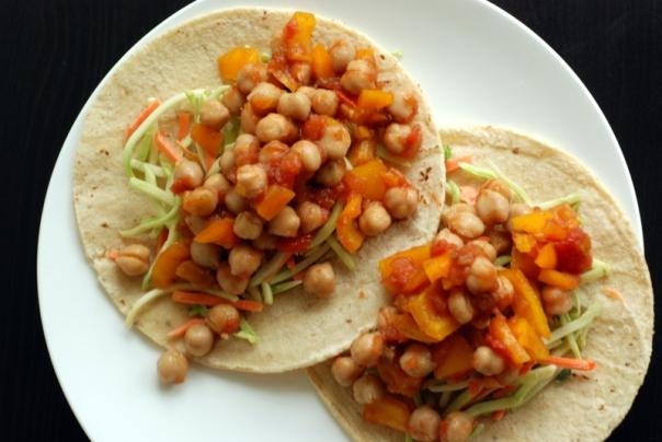 Salsa Chickpea Tacos