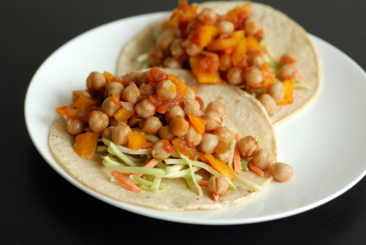 Quick & Easy Salsa Chickpea Tacos