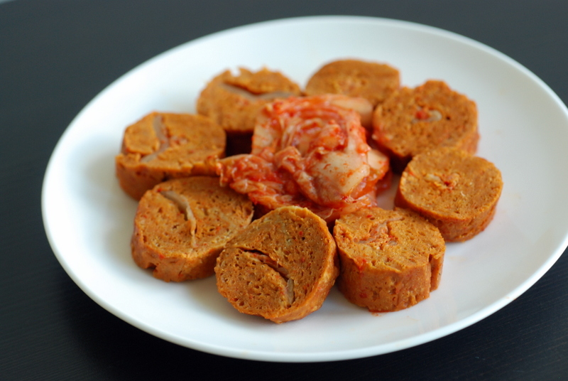 Kimchi Stuffed Sausages Vegan Finger Foods Reviewgiveaway