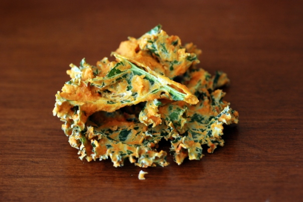 Classic Cheesy Kale Chips (Choosing Raw)