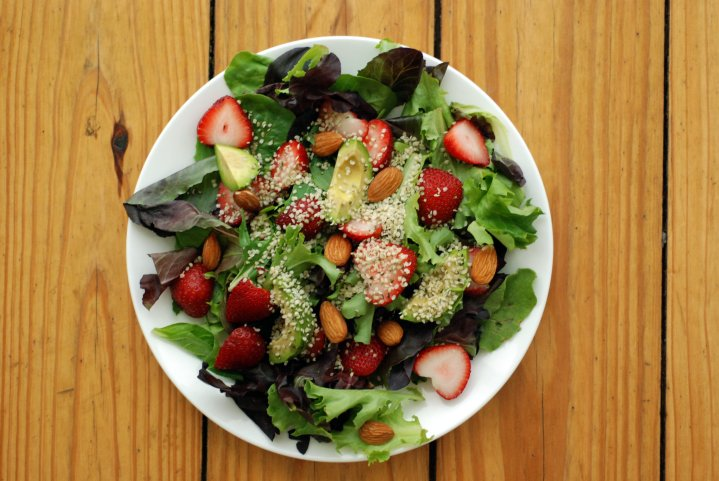 Strawberry & Avocado Salad with a Citrus Vinaigrette