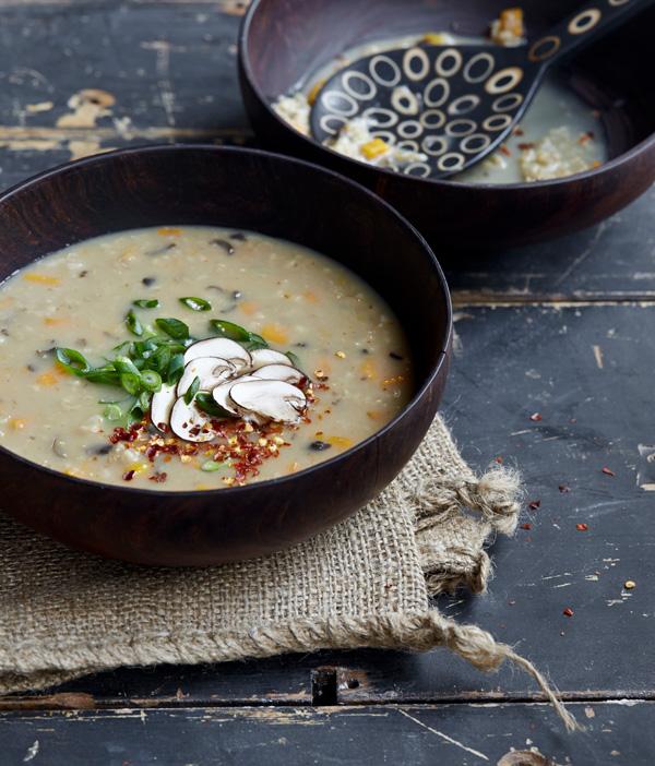 Mushroom Ginger Congee & Oatrageous Oatmeals Cookbook Giveaway