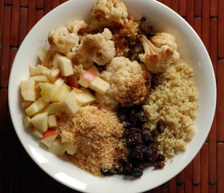 Indian-Inspired Roasted Cauliflower & Quinoa Salad