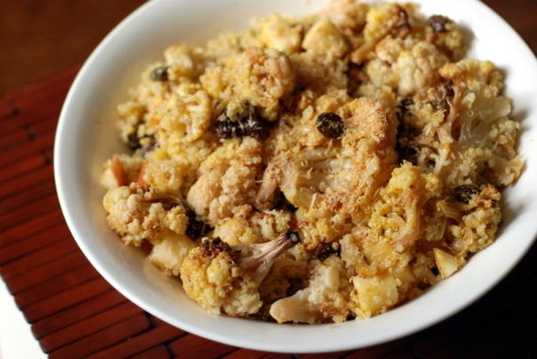 Curry Roasted Cauliflower & Quinoa Salad