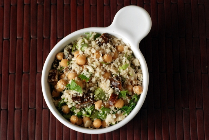 Moroccan Cauliflower Rice and Date Salad