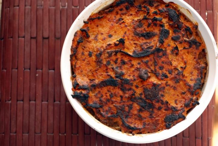 Sweet Potato Vegan Shepherd's Pie with Coconut Whipped Sweet Potatoes