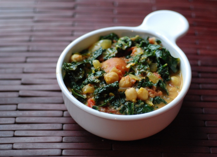 Coconut Chana Saag