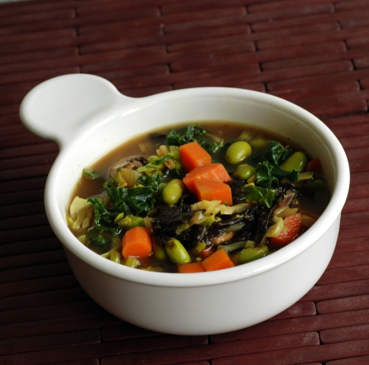 Eat Your Greens Soup with Edamame
