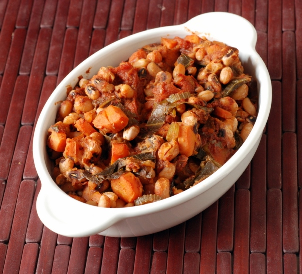 Black-Eyed Pea and Collard Green Chili
