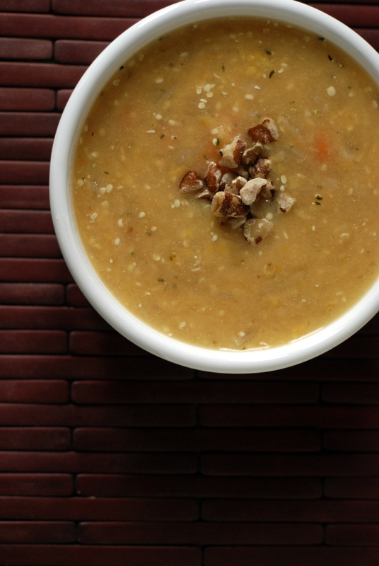 Miso Hemp Split Pea Soup