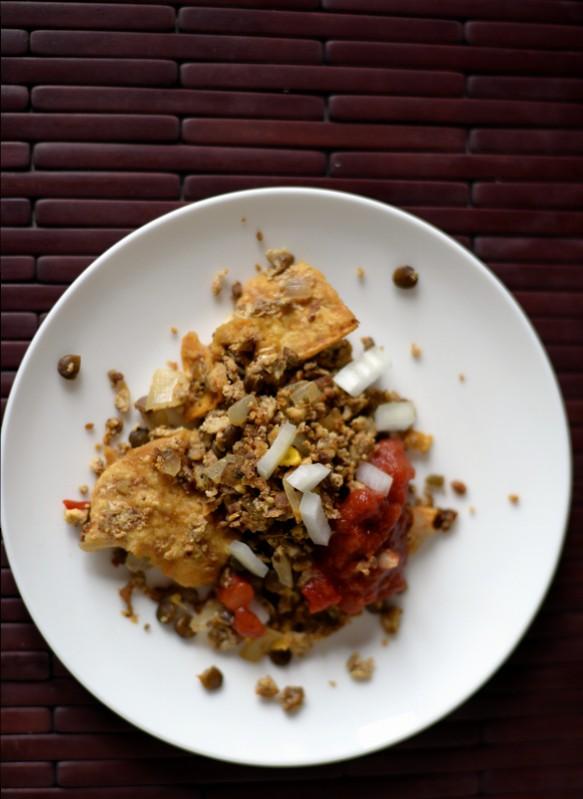 Simple Lentil Chilaquiles