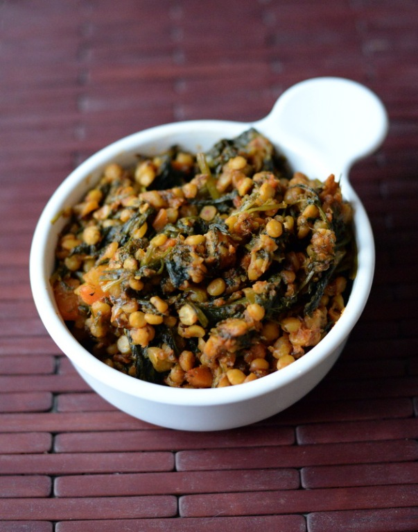 Yellow Split Chickpeas with Spinach (Chana Dal Sat-Bhaji)