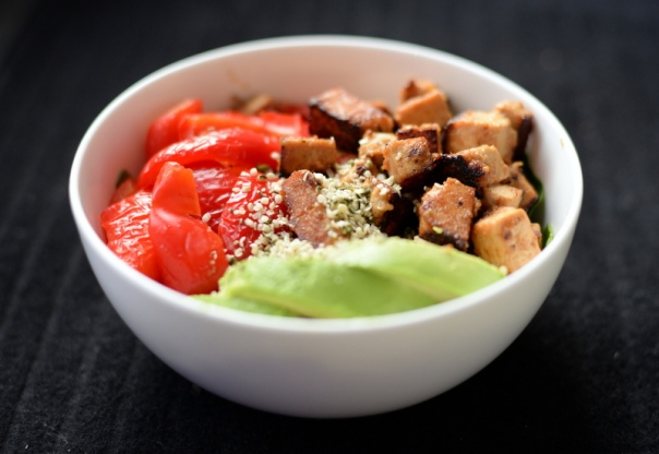 Sweet-and-Sour Tofu Veggie Bowl
