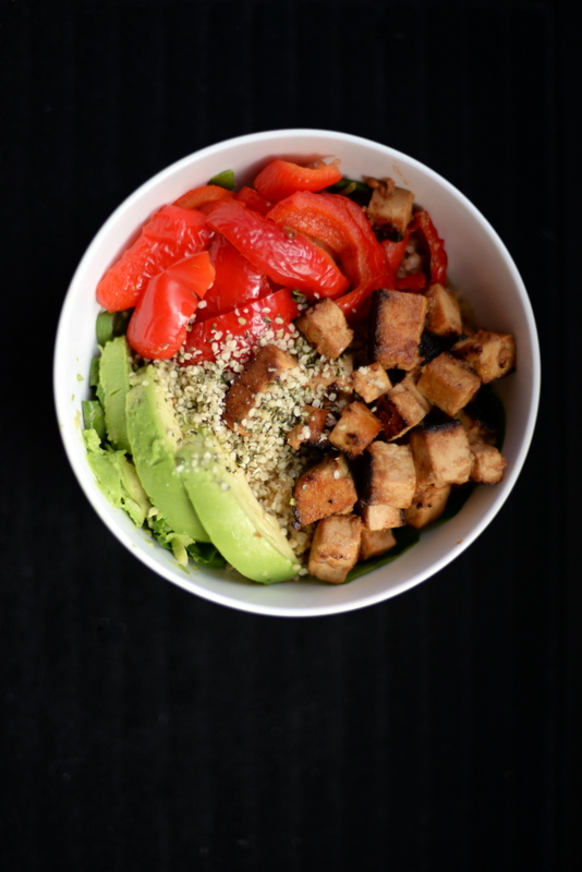 Sweet-and-Sour Tofu Veggie Bowl