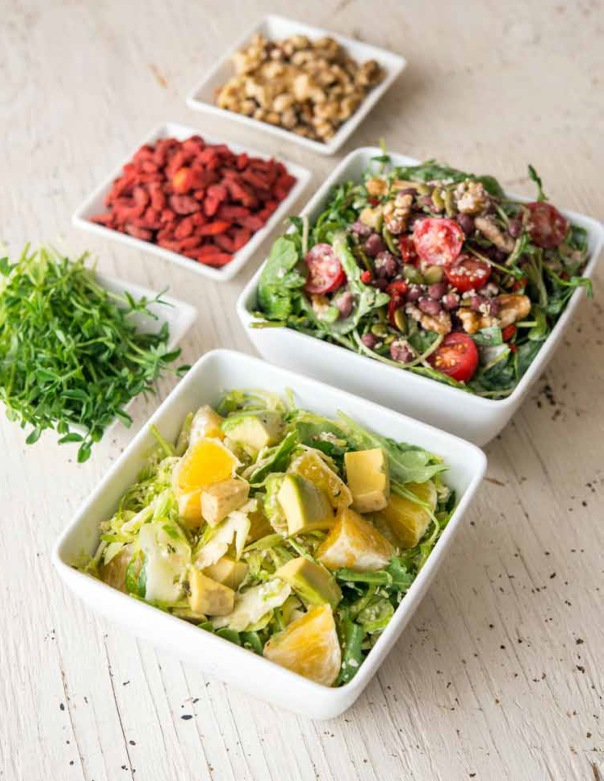 Shaved Brussels Sprout Salad with Hemp and Orange Recipe courtesy of Greens 24/7