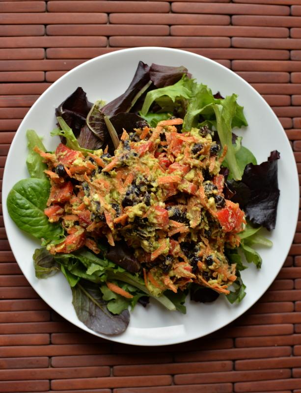 Southwestern Avocado Scramble Salad