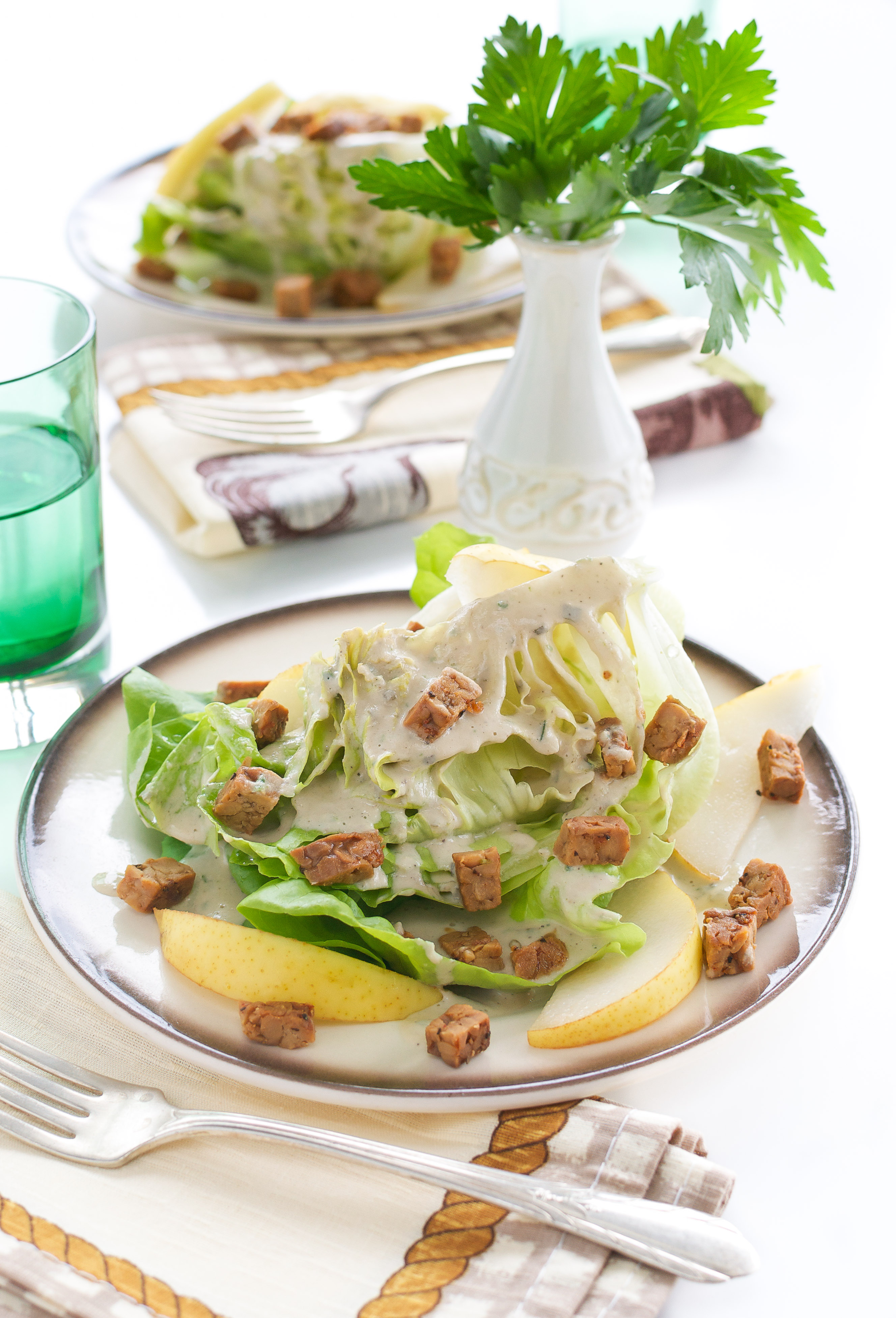Butter Lettuce Wedge Salad with Creamy Peppercorn Dressing + Eat Crave ...