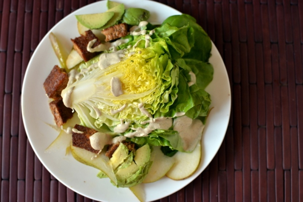 Butter Lettuce Wedge Salad with Creamy Peppercorn Dressing + Cookbook Giveaway