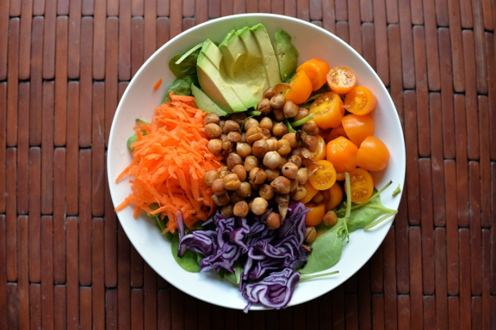 BBQ Roasted Chickpea Summer Salad