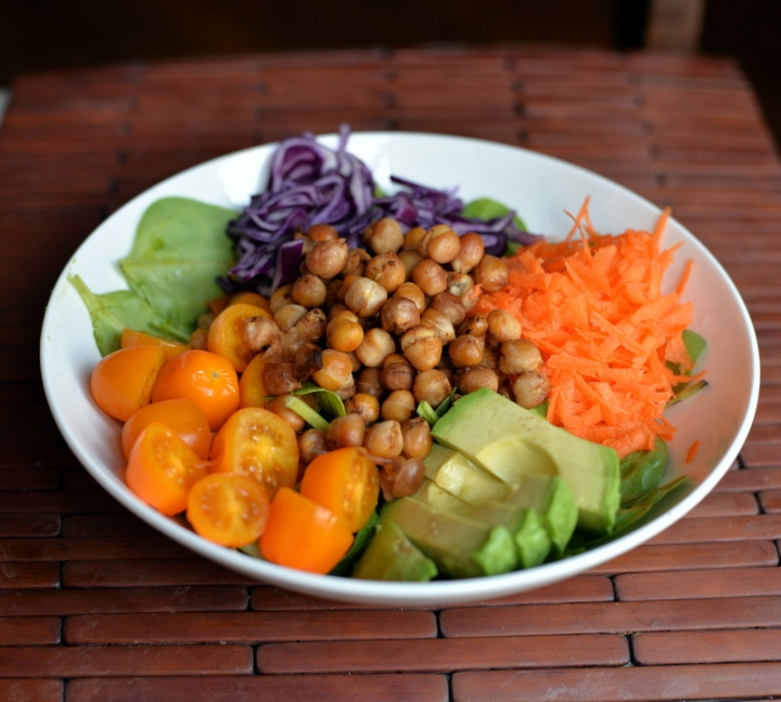 BBQ Roasted Chickpea Summer Salad + Abundance Diet GIVEAWAY