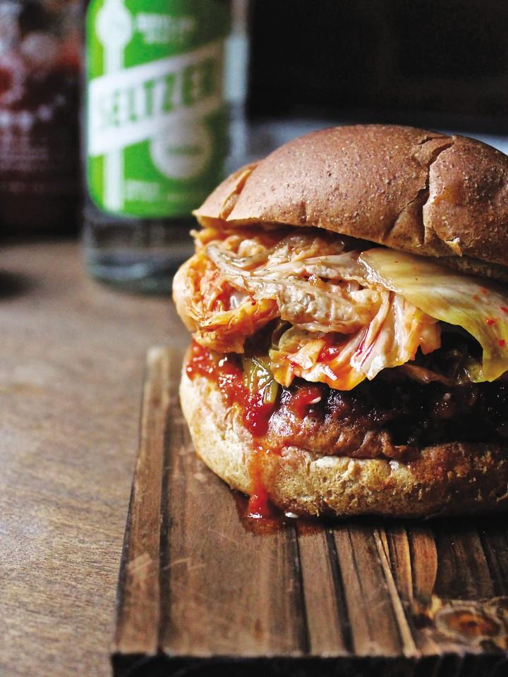 Korean Kimchi BBQ Burger_credit Annie Shannon