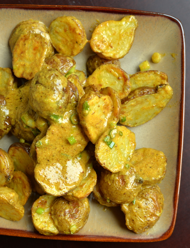 Roasted Potato Salad with Mustard Old Bay Dressing