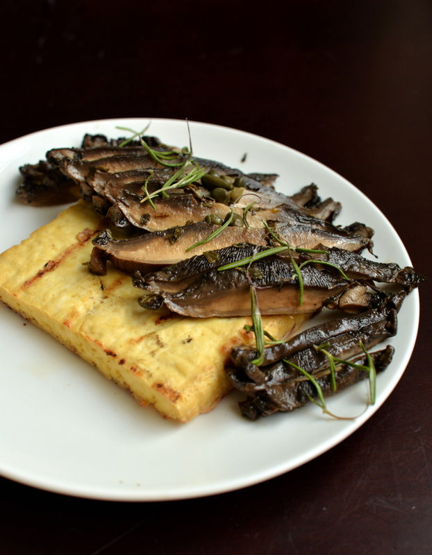 Portobello Carpaccio with Grilled Tofu Steaks