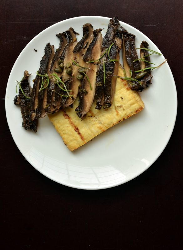Portobello Carpaccio with Grilled Tofu Steaks