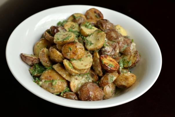 Creamy Lemon-Dill Roasted Potato Salad