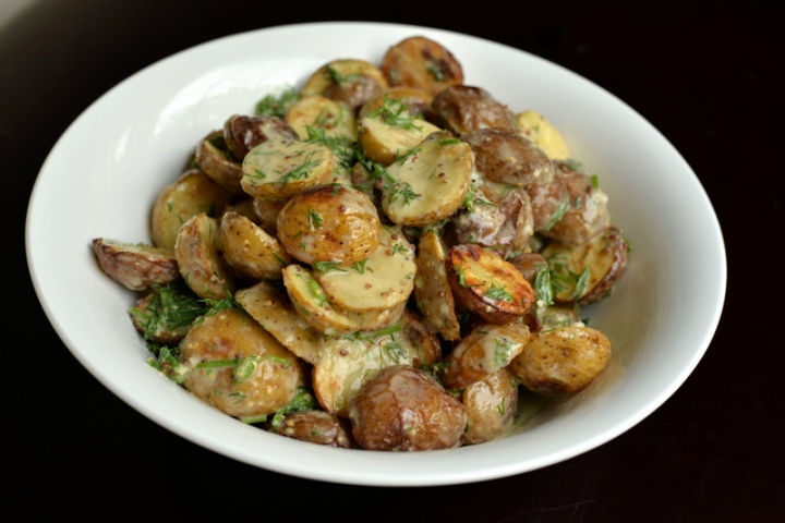 Creamy Lemon-Dill Roasted Potato Salad