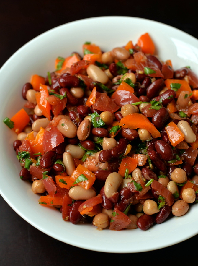 Southwestern Mixed Bean Salad with a Chile-Lime Dressing