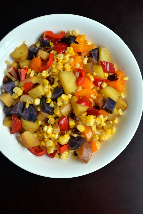 Turn your favourite soup into a salad: Corn Chowder Salad #vegan #recipe