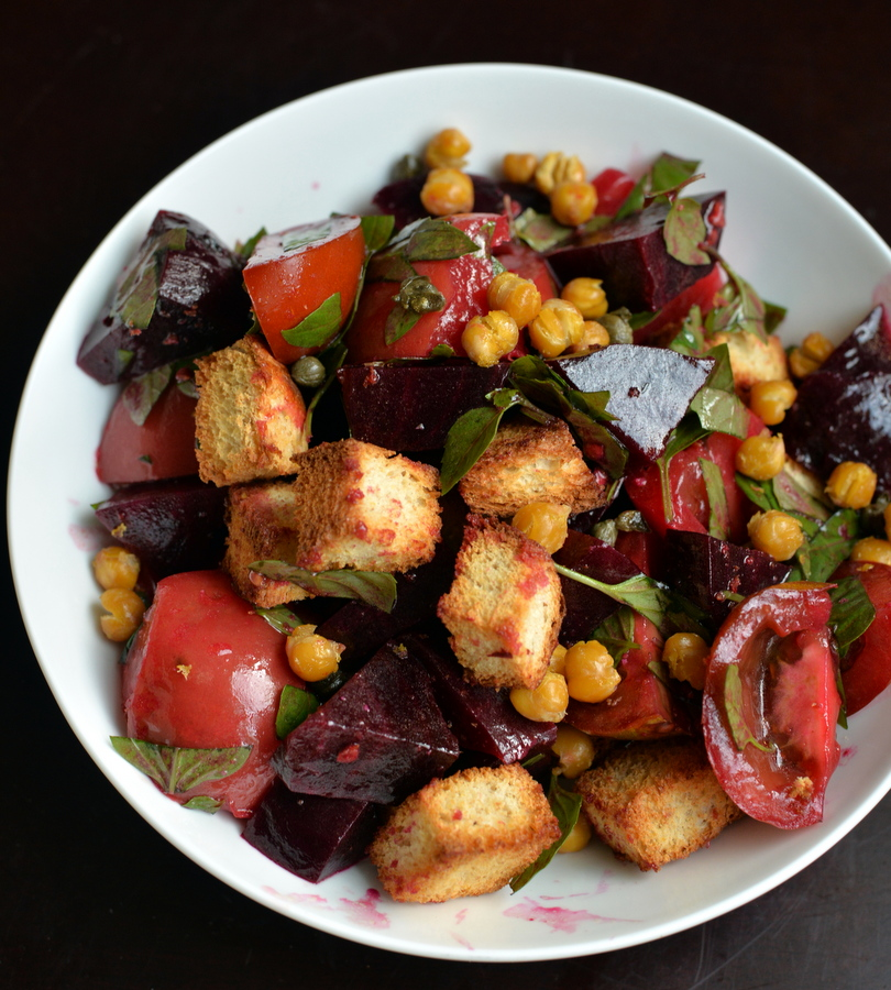 Heirloom Tomato and Beet Panzanella + Food52 Vegan cookbook GIVEAWAY