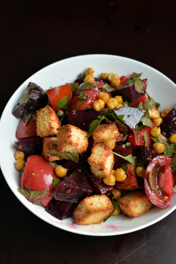 Heirloom Tomato and Golden Beet Panzanella + Food52 Vegan GIVEAWAY