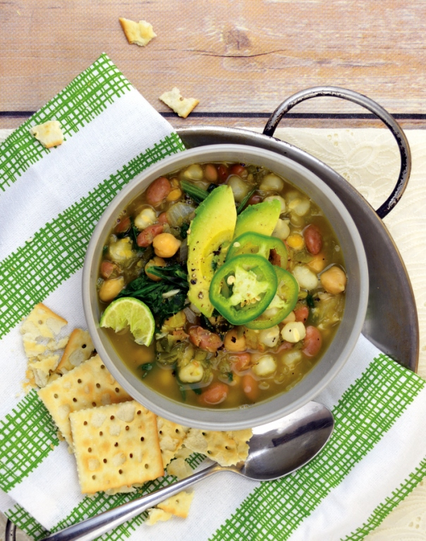 Green and White Chili Bowl