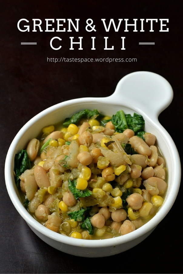 Green and White Chili Bowl + Vegan Bowls cookbook GIVEAWAY