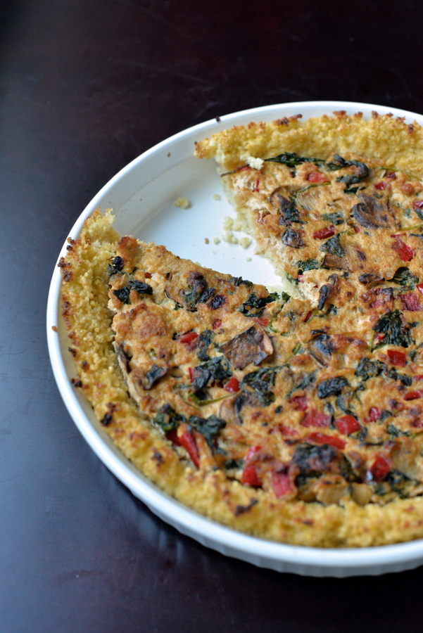 Vegalicious Quiche with a Millet Crust + Undiet Cookbook GIVEAWAY