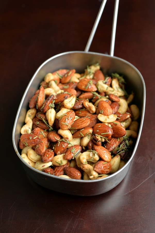 Roasted Maple Rosemary Almonds