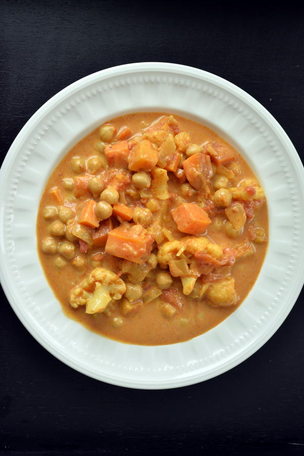 Creamy Sweet Potato Chickpea Curry
