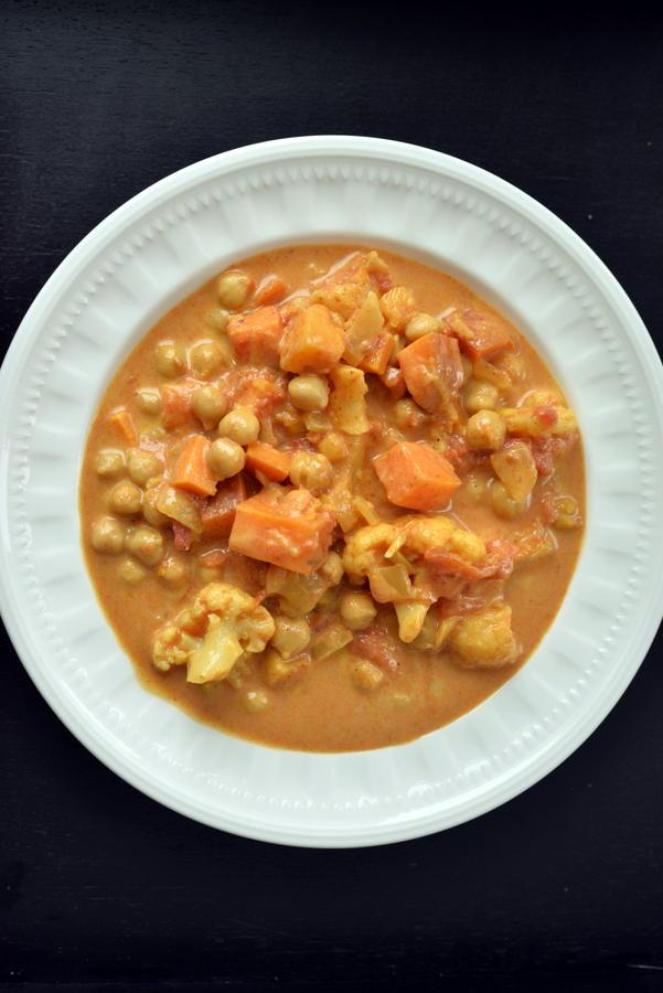 Creamy Sweet Potato Chickpea Curry