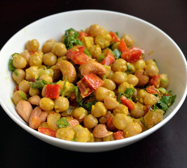 Vegan GF Curried Chickpea Salad from The Taste Space