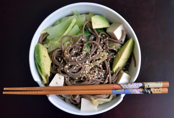 Cold Sesame Cucumber Noodles from Love & Lemons Cookbook