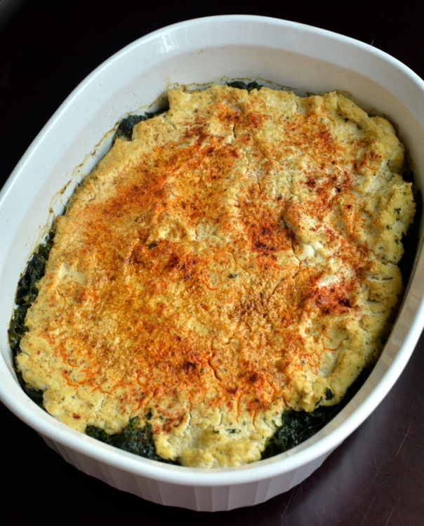 Turkish-Style Spinach with Creamy Tofu Ricotta + Peace & Parsnips cookbook GIVEAWAY
